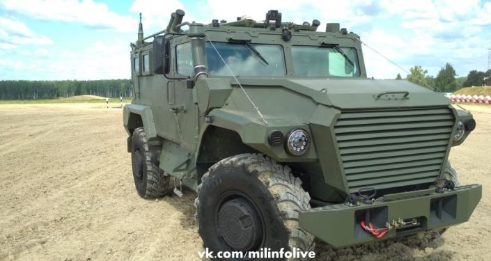 Recente blindado russo Tigr