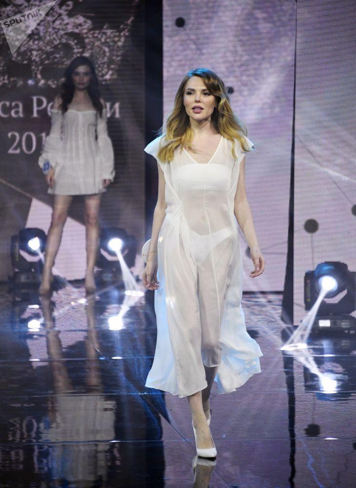 Candidatas do concurso Beleza Russa 2019 desfilam durante a final da competição