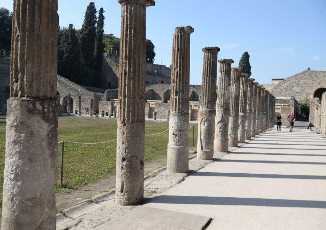 Praça do mercado de Pompeia