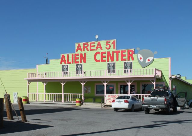 Local perto da zona secreta Área 51 nos EUA