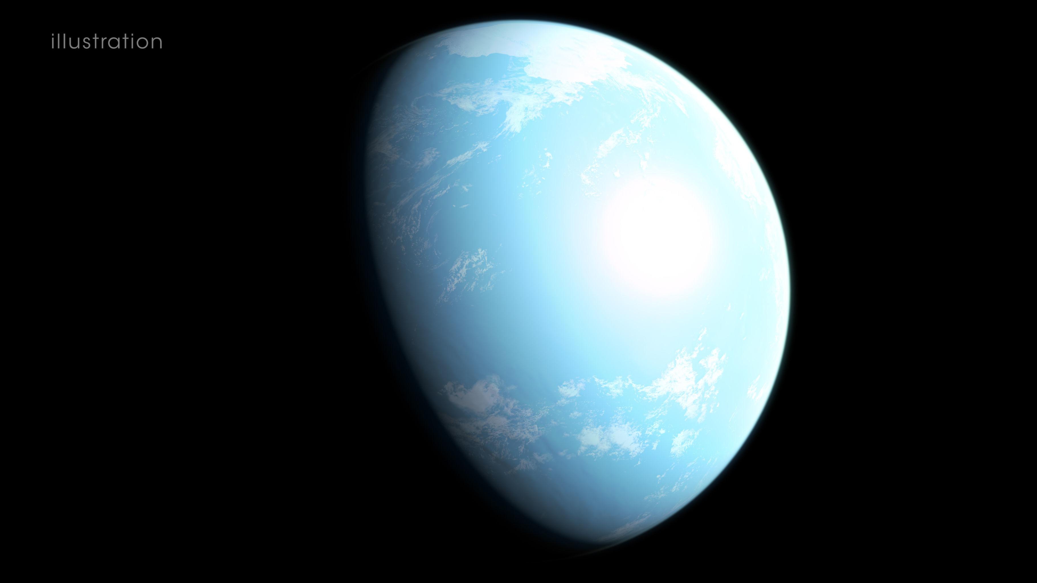 Ilustração mostra interpretação da aparência do planeta GJ 357 d, localizado a cerca de 31 anos-luz de distância da Terra