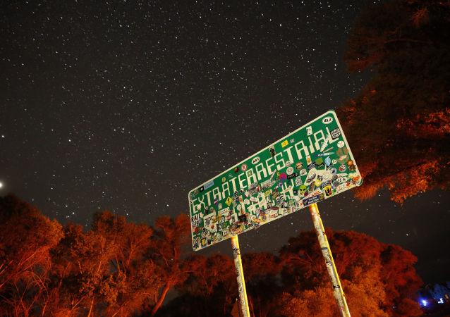 Placa da estrada no Nevada perto de Área 51