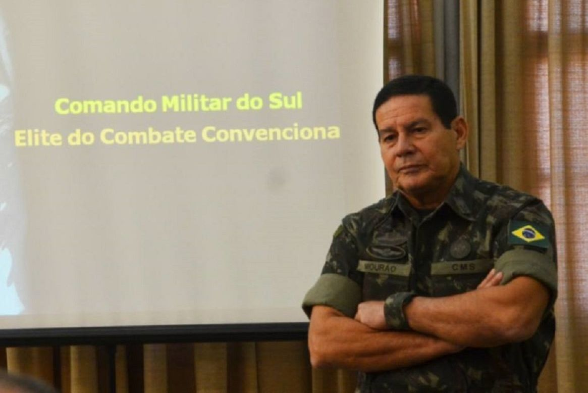 Vice-presidente e general da reserva Antônio Hamilton Mourão