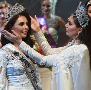 Vencedora na categoria Mrs. Rússia Globo, Ksenia Krivko