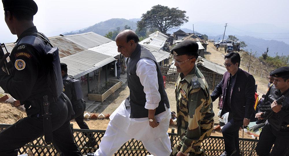 O ministro indiano da Defesa, Rajnath Singh, em foto de arquivo.