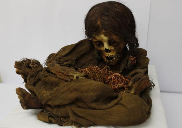Garota inca mumificada de 500 anos