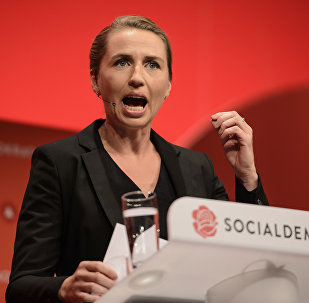 A primeira-ministra da Dinamarca Mette Frederiksen