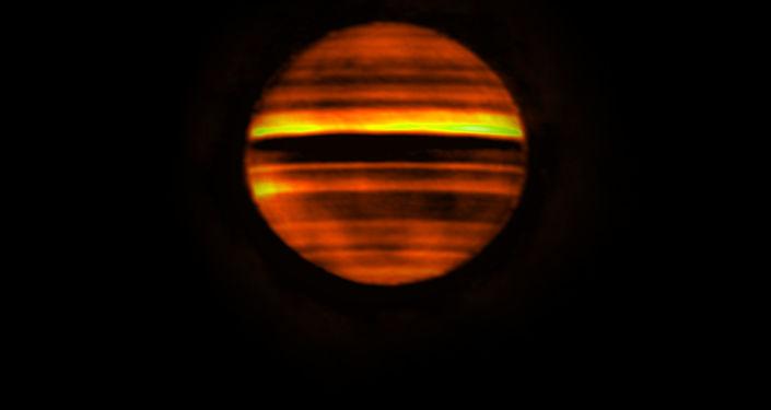 Imagem de Júpiter captada pelo ALMA