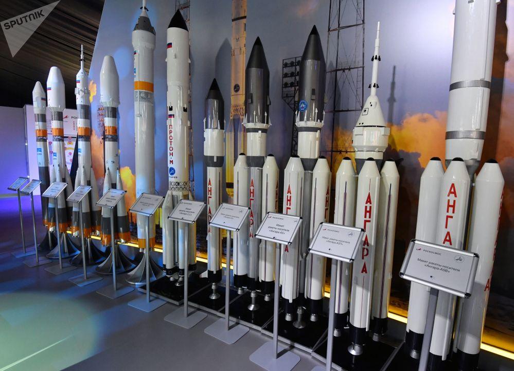 Modelos de foguetes portadores russos no Salão Aeroespacial Internacional MAKS-2019