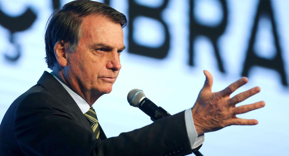Presidente Jair Bolsonaro participa de conferência em Brasília, 21 de agosto de 2019