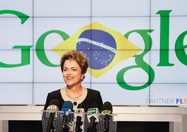 Presidenta Dilma Rousseff durante visita à Google
