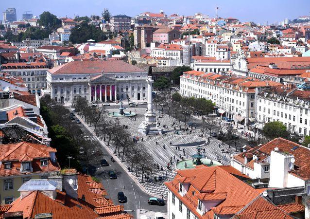 Praça do Rossio, também conhecida como Praça Dom Pedro IV, em Lisboa, Portugal