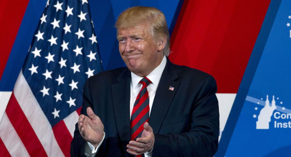 O presidente dos EUA, Donald Trump, em evento do Partido Republicano.