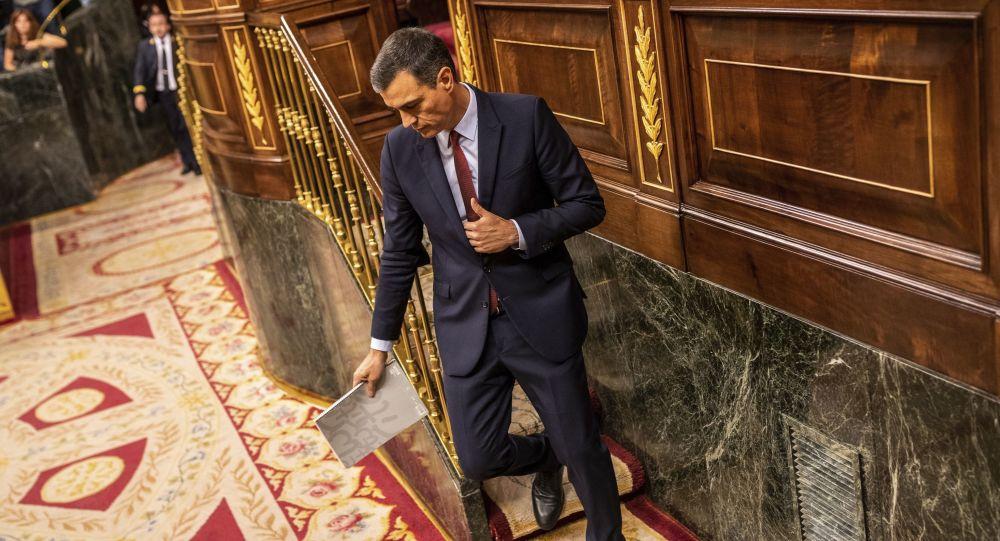 O primeiro-ministro espanhol Pedro Sánchez.
