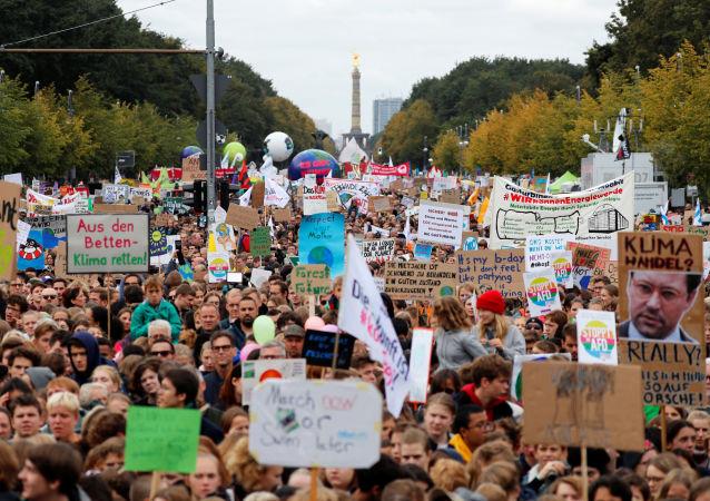 Greve Global Pelo Clima, em Berlim