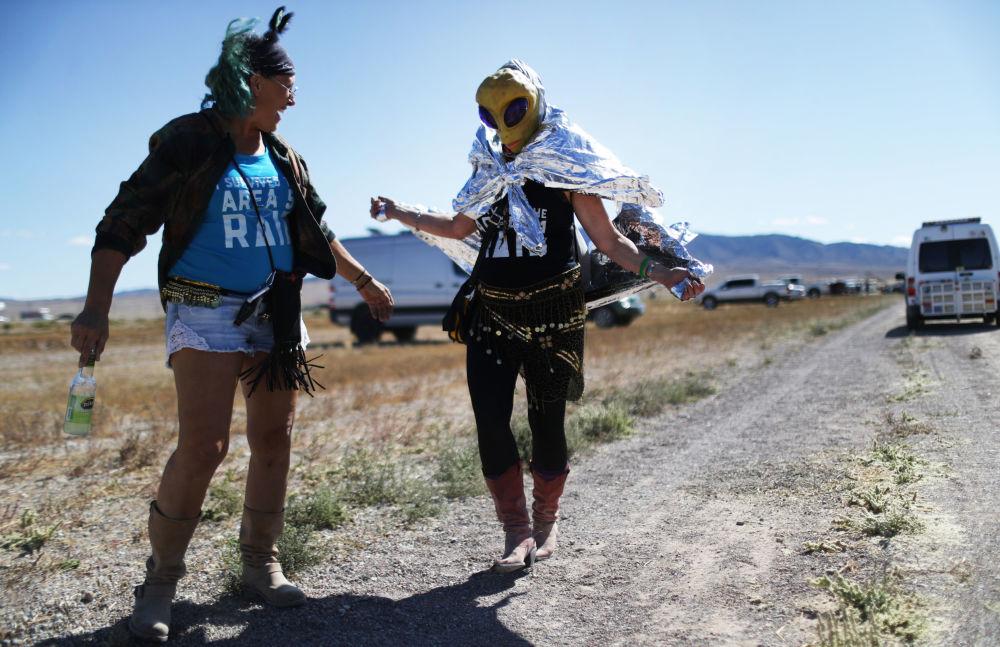 Participantes da invasão da Área 51 em Nevada