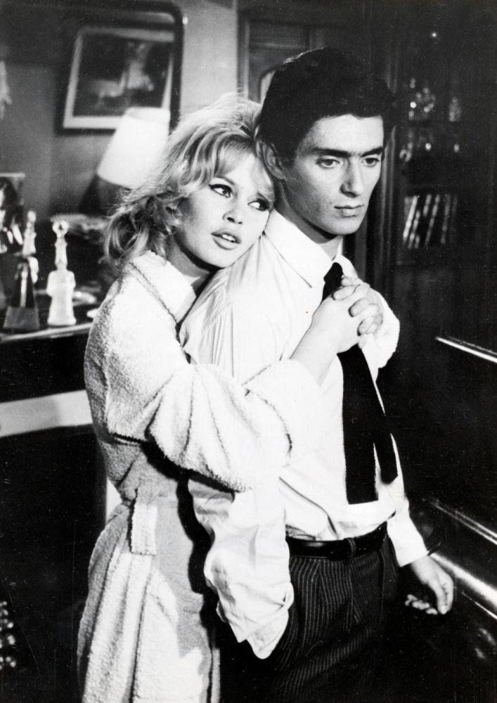Brigitte Bardot e Sami Frey no filme A Verdade (La Vérité) dirigido por Henri-Georges Clouzot, 1960