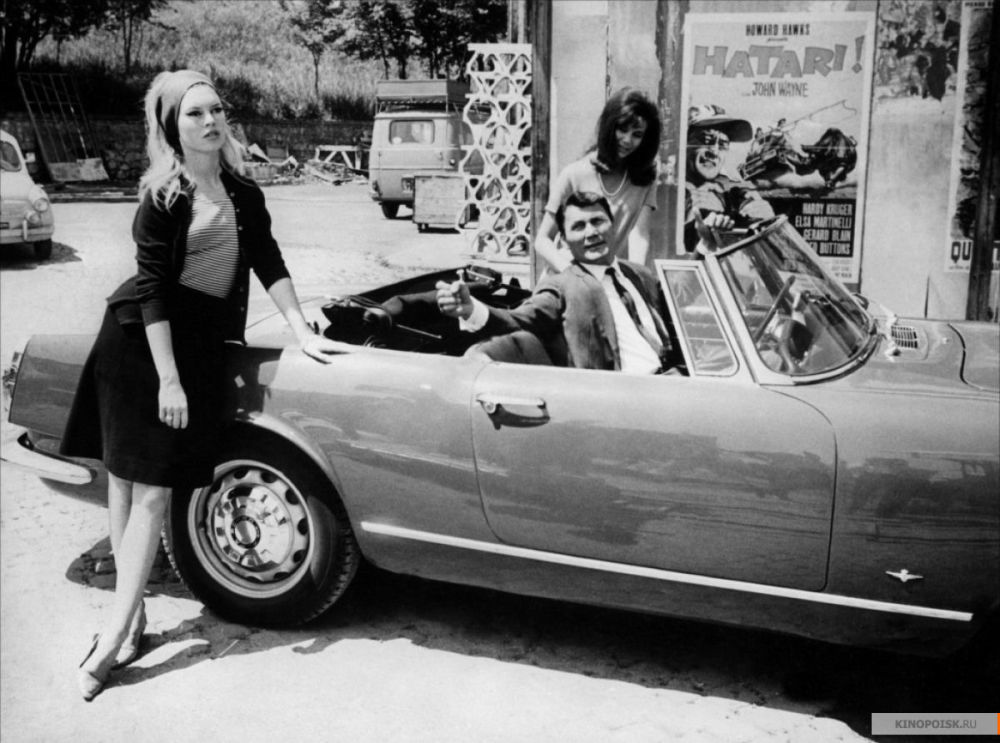 Brigitte Bardot em O Desprezo (Le Mépris) dirigido por Jean-Luc Godard, em 1963