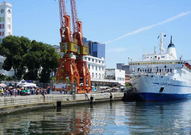 Navio Logos Hope, da GBA Ships, no Píer Mauá, Rio de Janeiro, em 2 de outubro de 2019
