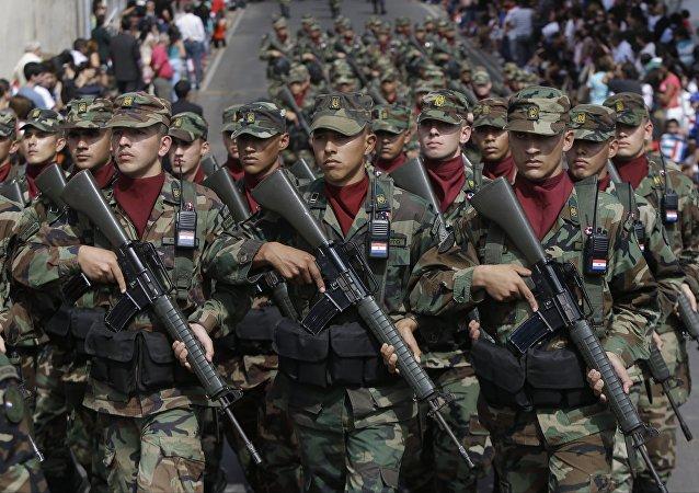 Soldados do exército do Paraguai (arquivo)