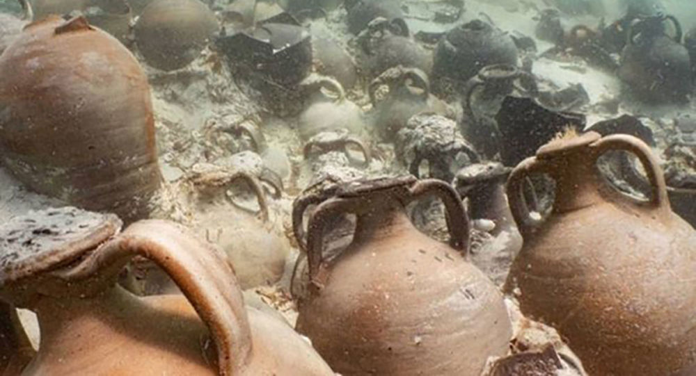 Fragmentos de vasos romanos