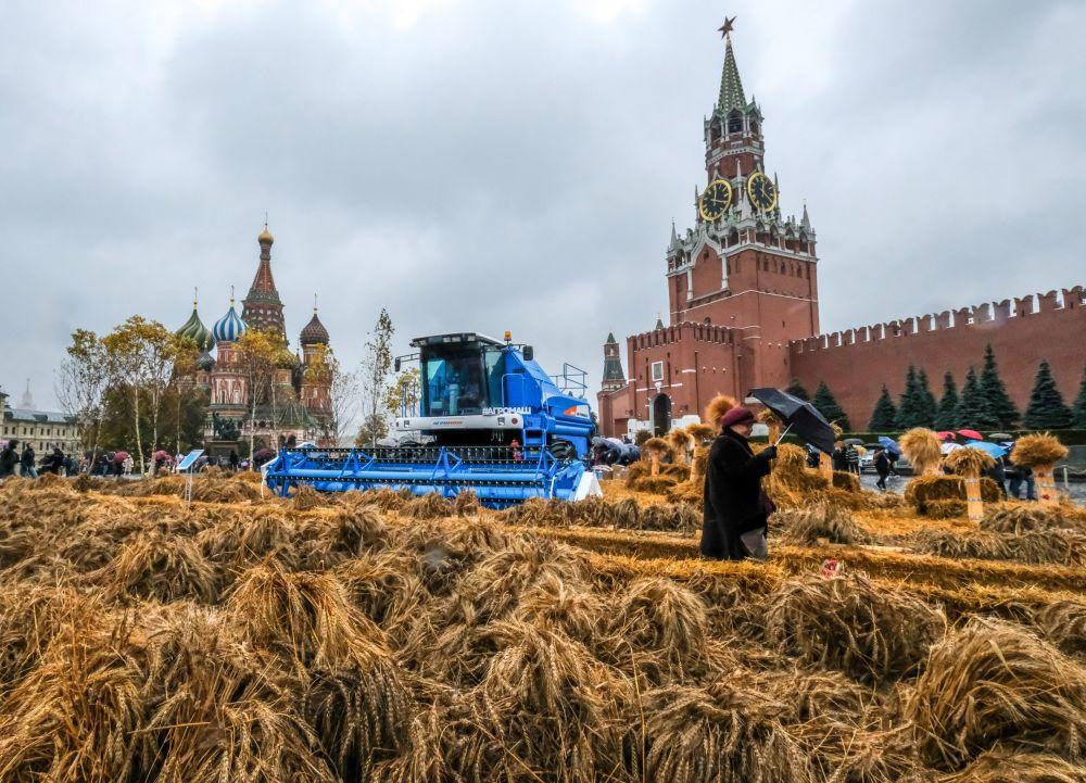 Festival Outono Áureo na Praça Vermelha em Moscou