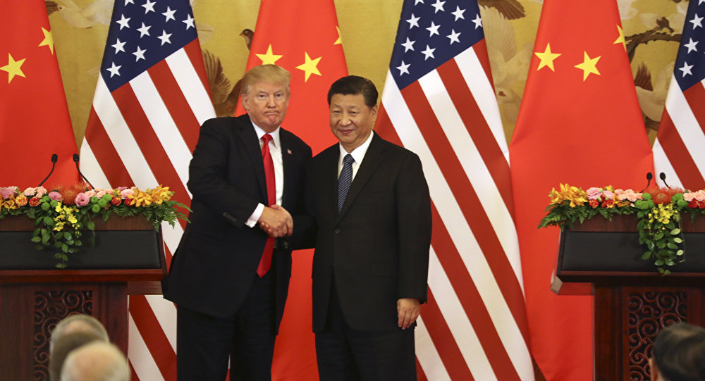 Donald Trump, presidente dos EUA, e Xi Jinping, presidente da China (arquivo)