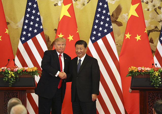 Donald Trump, presidente dos EUA, e Xi Jinping, presidente da China