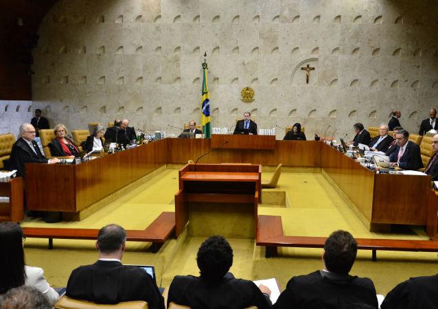 O Ministro Dias Toffoli, durante sessão no Supremo Tribunal Federal (STF), em Brasília (DF).