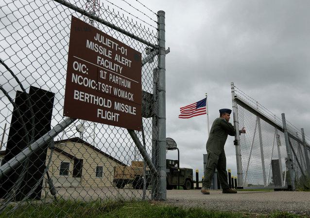 Instalação de controle de lançamento de mísseis balísticos intercontinentais em Minot, EUA (imagem ilustrativa)