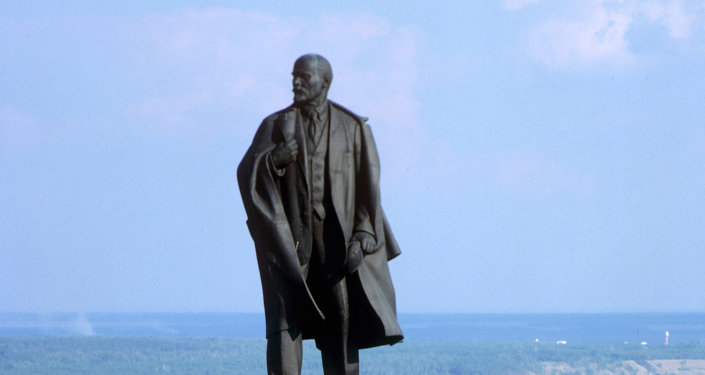 Estátua de Vladimir Lenin em Ulyanovsk, na Rússia