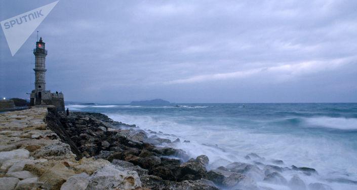 Vista da ilha de Creta, Grécia