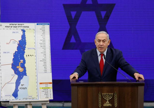 Primeiro-ministro israelense Benjamin Netanyahu durante declaração na cidade de Ramat Gan, perto de Tel Aviv, Israel, 10 de setembro de 2019