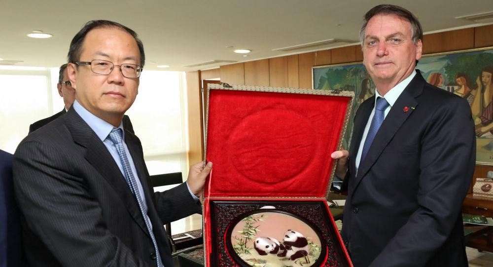 Audiência com YaoWei, CEO Huawei do Brasil, com o presidente Jair Bolsonaro.