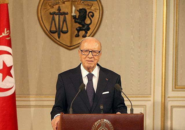 Beji Caidi Essebsi, presidente da Tunísia.