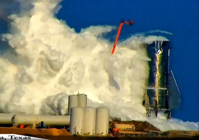Explosão da espaçonave Starship da SpaceX