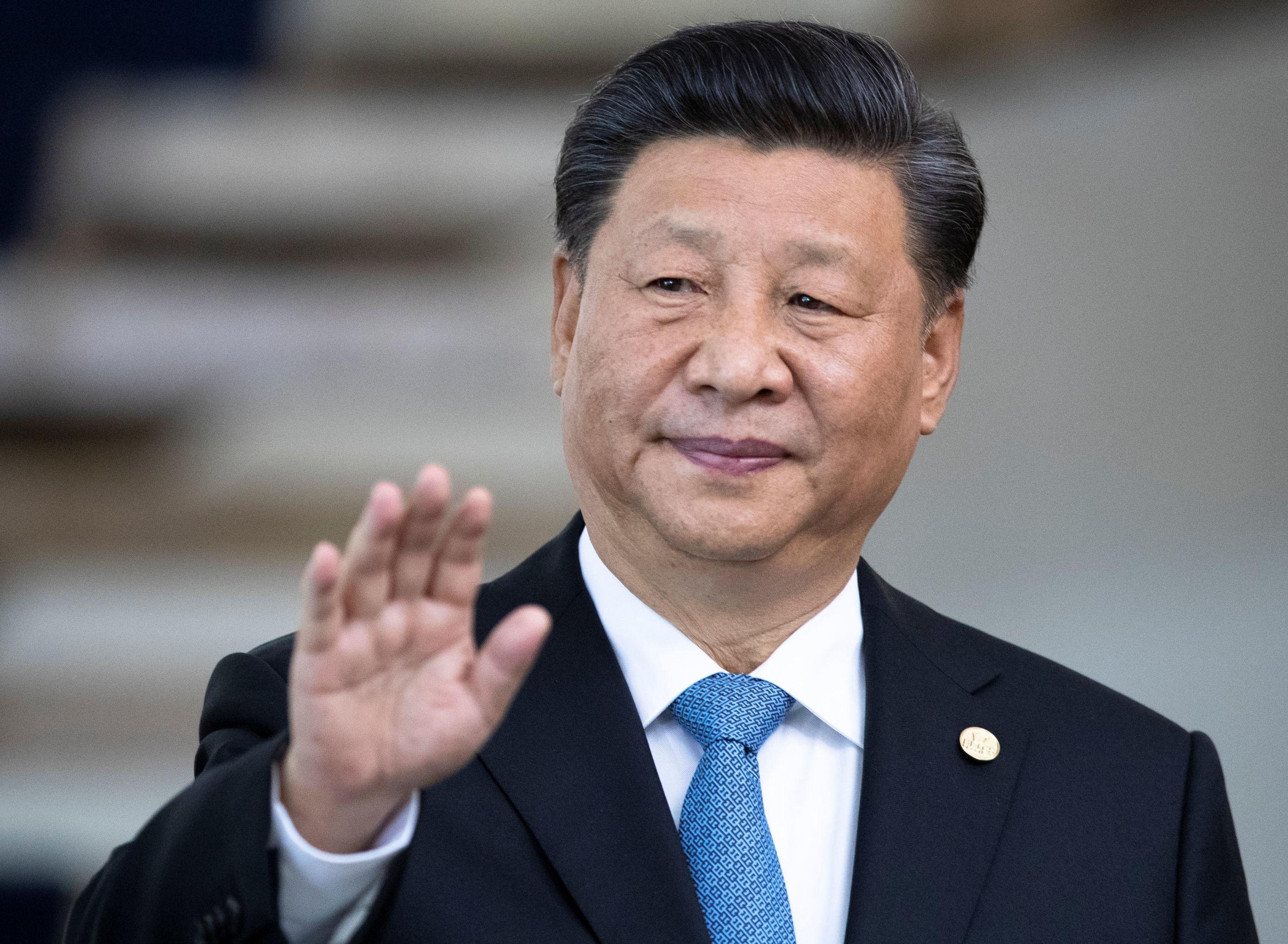 Presidente da China, Xi Jinping, durante 11ª Cúpula de Chefes de Estado do BRICS, em Brasília, em 14 de novembro de 2019