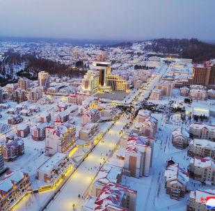 Samjiyon, cidade na Coreia do Norte, inaugurada por Kim Jong-un em 2 de dezembro de 2019
