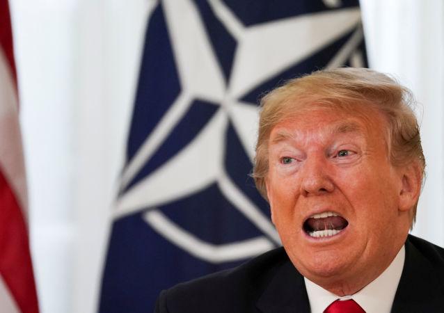 Presidente norte-americano Donald Trump durante encontro da OTAN em Londres