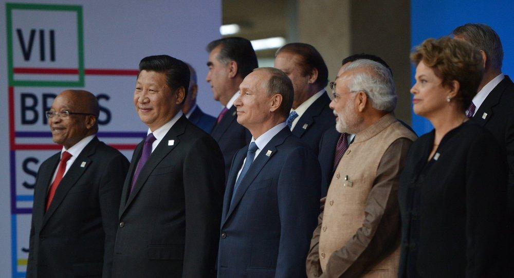 Participantes da cúpula do BRICS