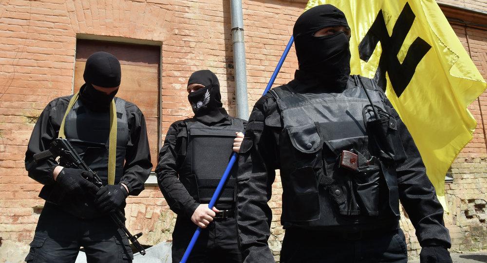 Ultranacionalistas ucranianos do Setor de Direita