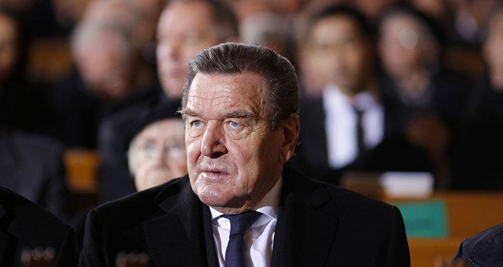 Gerhard Schroeder, ex-chanceler da Alemanha. Foto de arquivo