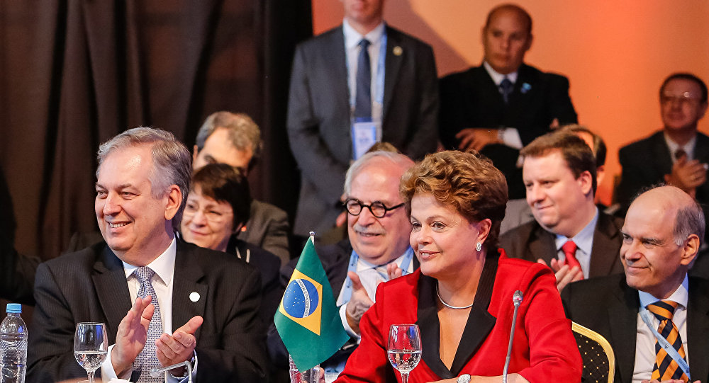 Presidenta Dilma Rousseff durante cerimônia de Abertura da XLVII Cúpula do Mercosul e Estados Associados, realizada na Argentina em dezembro de 2014