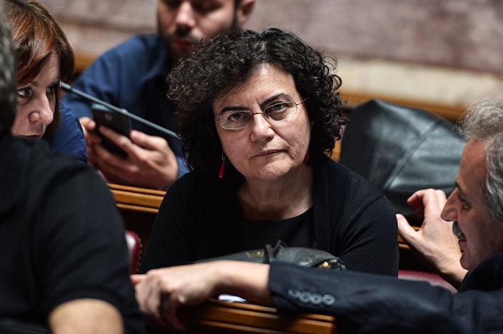 Nadia Valavani, ex-vice-ministra das Finanças da Grécia