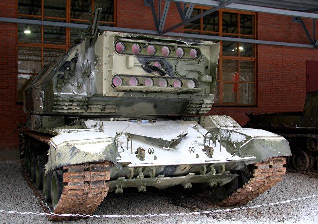 Protótipo do tanque a laser 1K17.