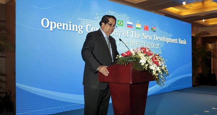 Kundapur Vaman Kamath, presidente do Novo Banco de Desenvolvimento do BRICS (NBD)