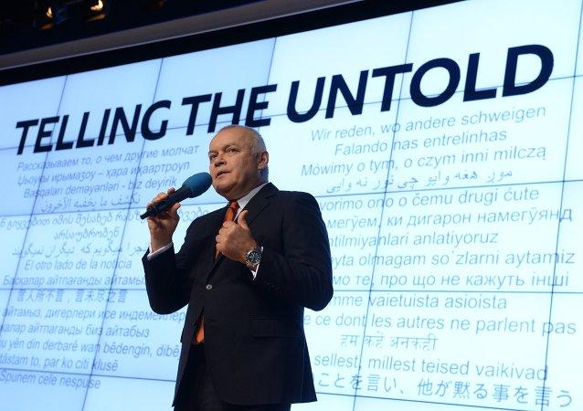 Diretor-geral da agência de notícias Rossiya Segodnya, Dmitry Kiselev.