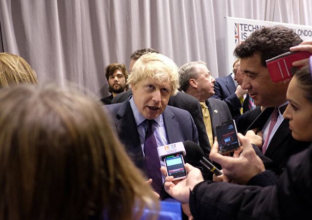 Prefeito de Londres Boris Johnson