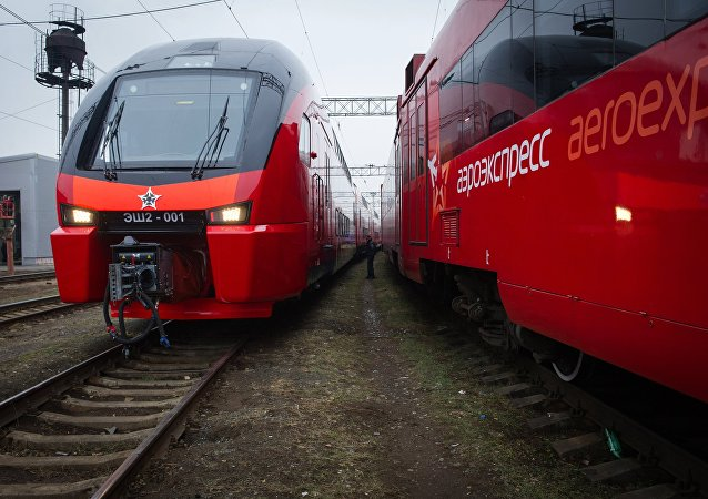 Trens da Aeroexpress.