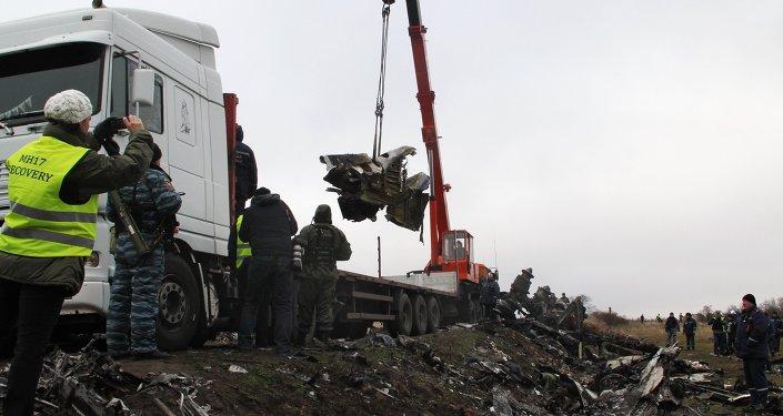 Retirada dos destroços do MH17, em Donetsk